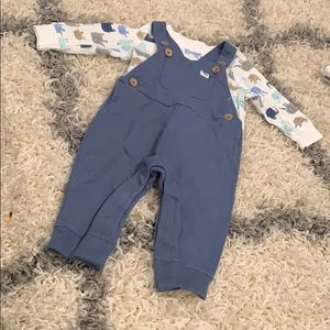 Overall long sleeve set